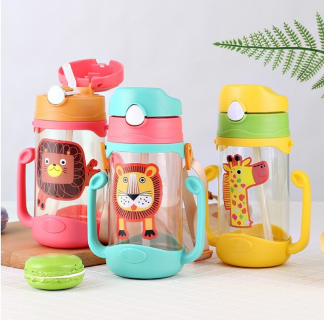 Kids Straw Bottle Tumbler BAP Free Baby Kid Sippy Cup Training Cup Water Jag 400ML