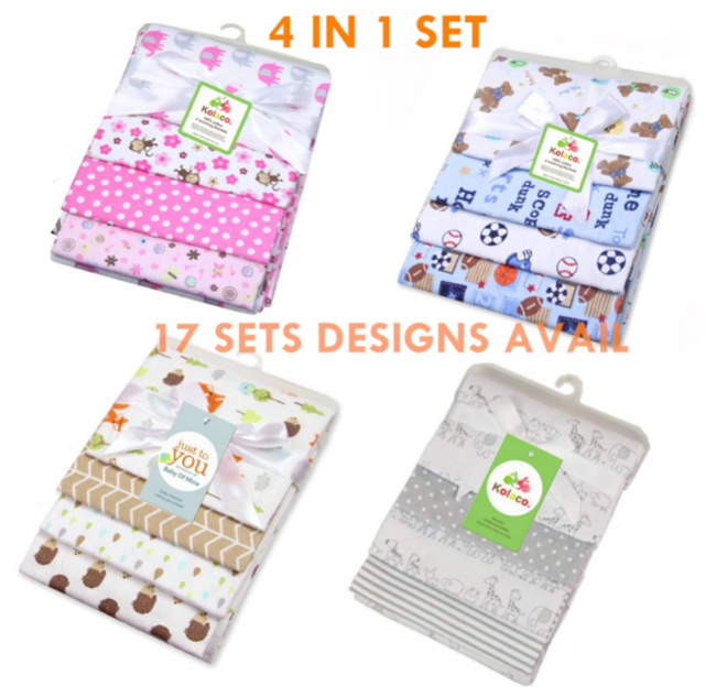 4 in 1 Baby Blanket Receiving Blanket Swaddle New Born Baby Towel