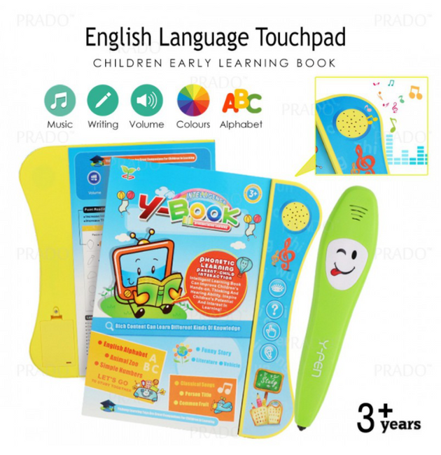 Y Book Y-Book Pronunciation Speaking Book Pen Early Education Toy Learning Book Toddler Kids Toys