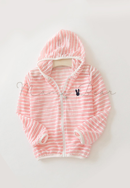 Stripes Zip Up Kids Hoodie Jacket