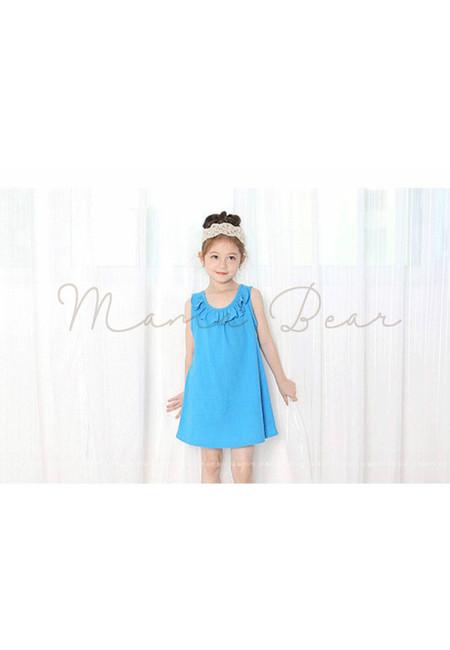 Summer Casual Sleeveless Kids Dress
