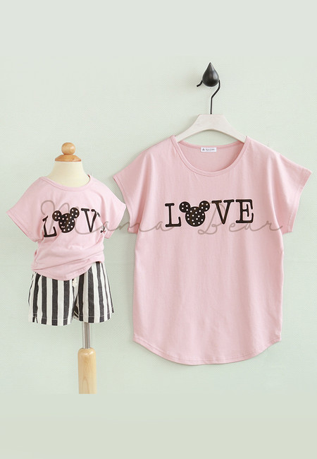 Love Mickey Mother & Kid Matching Shirt