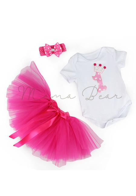 Rosepink Number 1 Baby Tutu Set