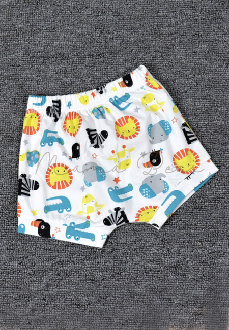 Cute Animal Print Kids Short