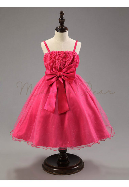 Lovely Princess With Bowknot Sleeveless Ball Gown Dress