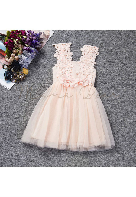 Elegant Lovely Flower Sleeveless Party Dress