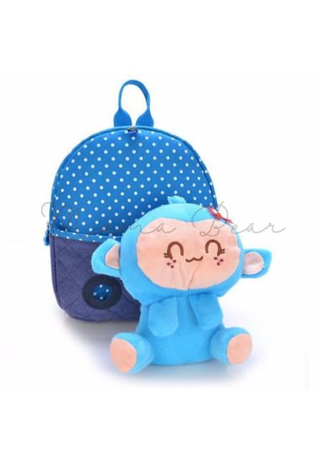 Cute Monkey Character Kid Backpack