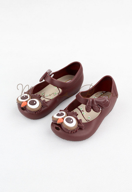 Cute Owl Kid Scented Jelly Shoes