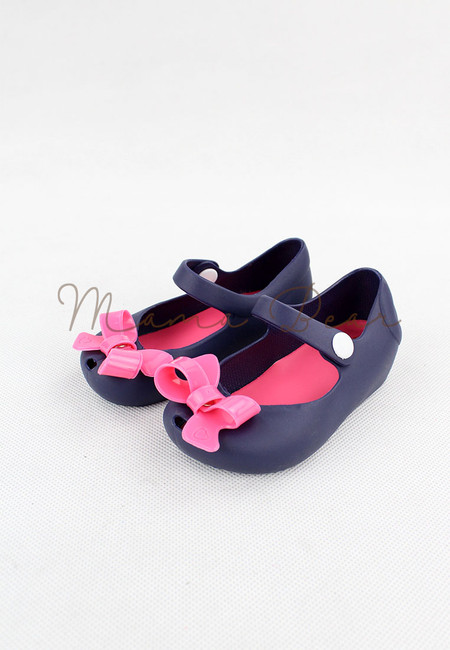 Pretty Ribbon Bow Kid Scented Jelly Shoes