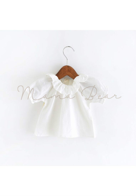 White Satin Elegant Kids Top