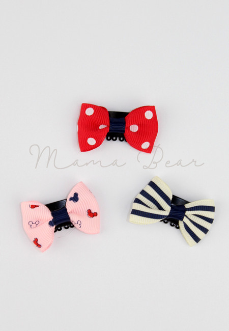 Mickey Ribbon Baby/Kids Hair Clip Set