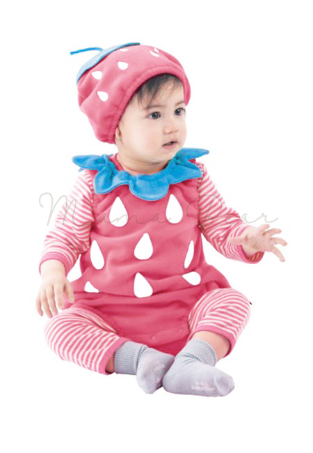 Strawberry Baby Costume Outfit Set
