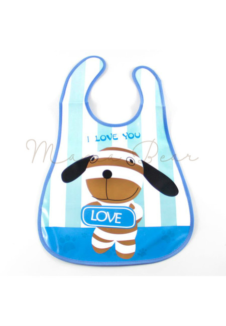 I Love You Dog Waterproof Baby Bib With Pocket