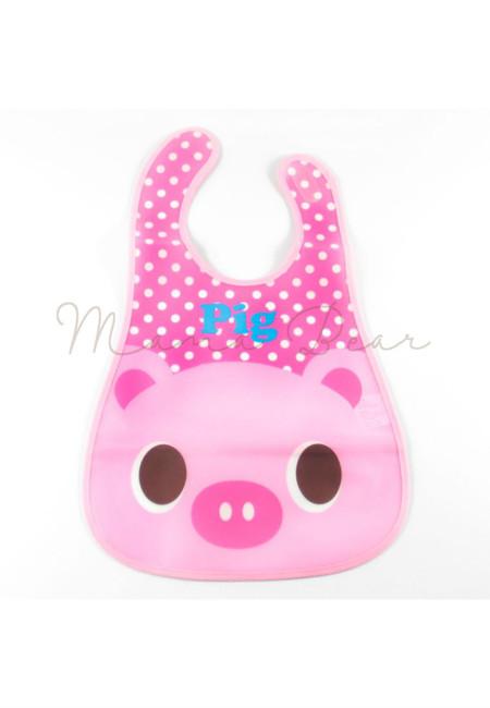 Little Pig Waterproof Baby Bib With Pocket
