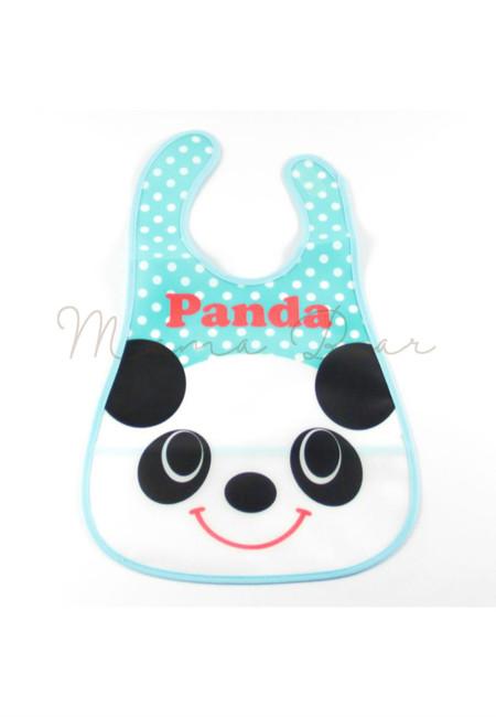 Little Panda Waterproof Baby Bib With Pocket