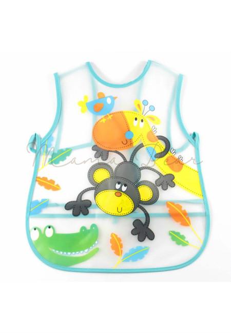 Adjustable Cute Animals Waterproof Baby Bib With Pocket