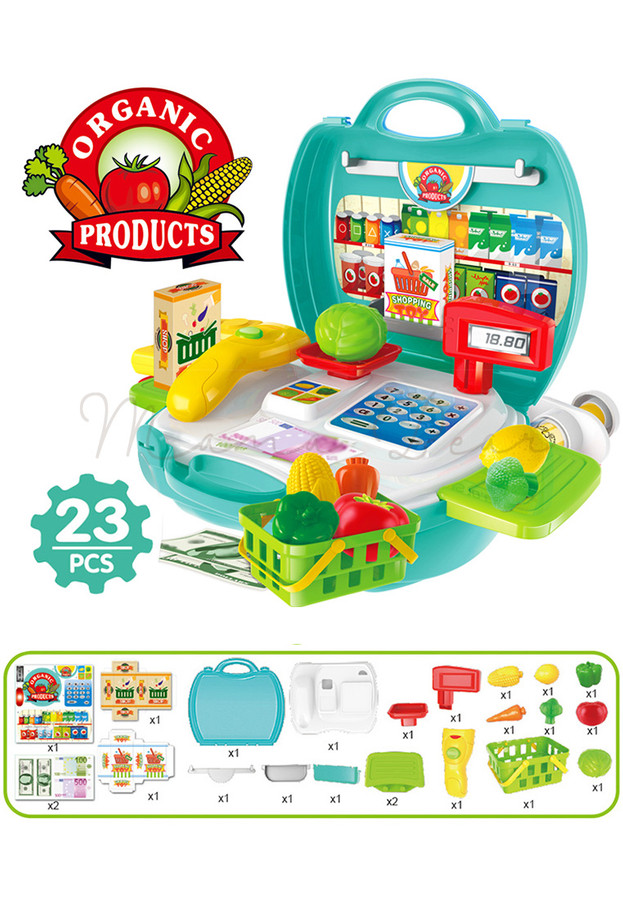 Children's Supermarket Play Set with Suitcase