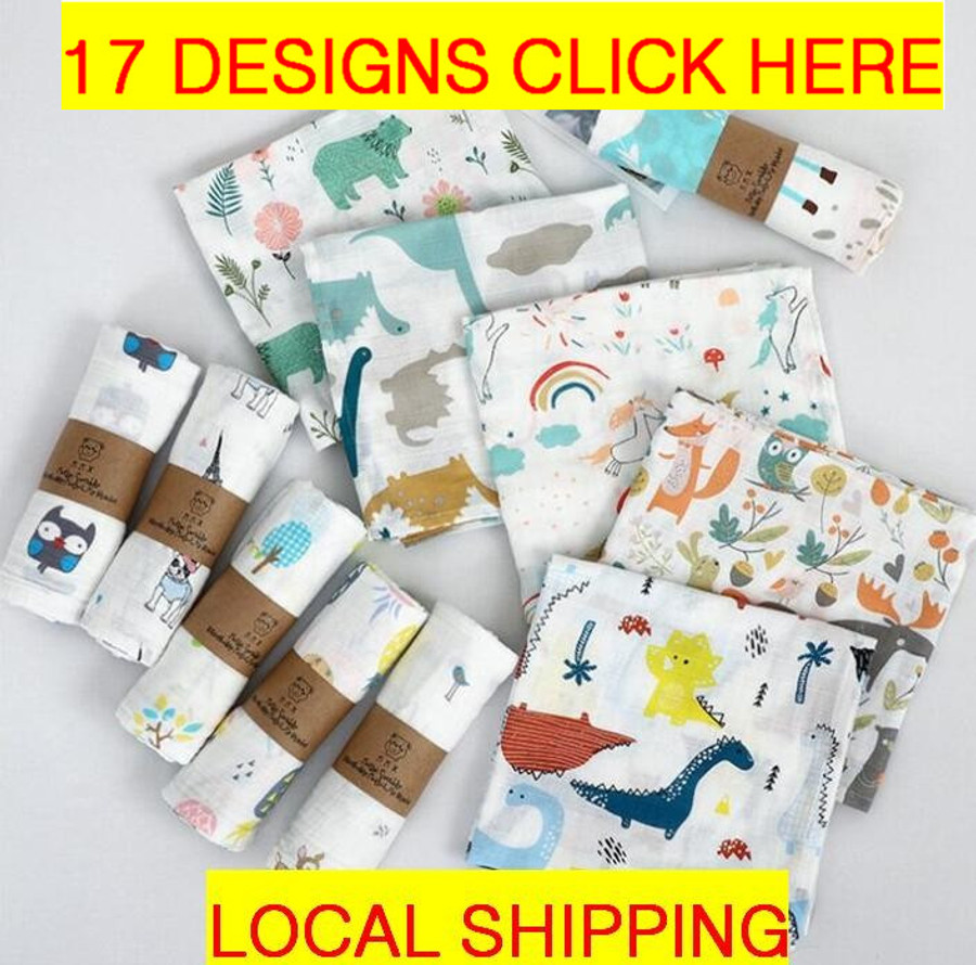 Muslin Blanket Baby Swaddle Baby Receiving Blanket New Born Wrap Cotton Gauze Blanket Lampin Cloth Baby Crib Bed Sheet Infant Nursing Cover Breastfeeding Cover