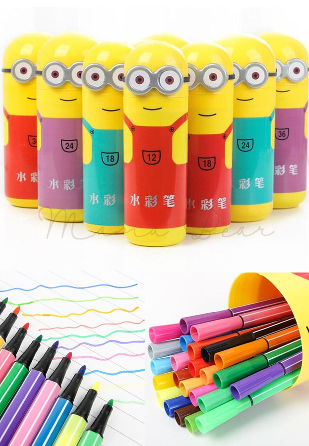 36 in 1 Minions Color Pen 1 set 36 Colors Minion Marker Pen
