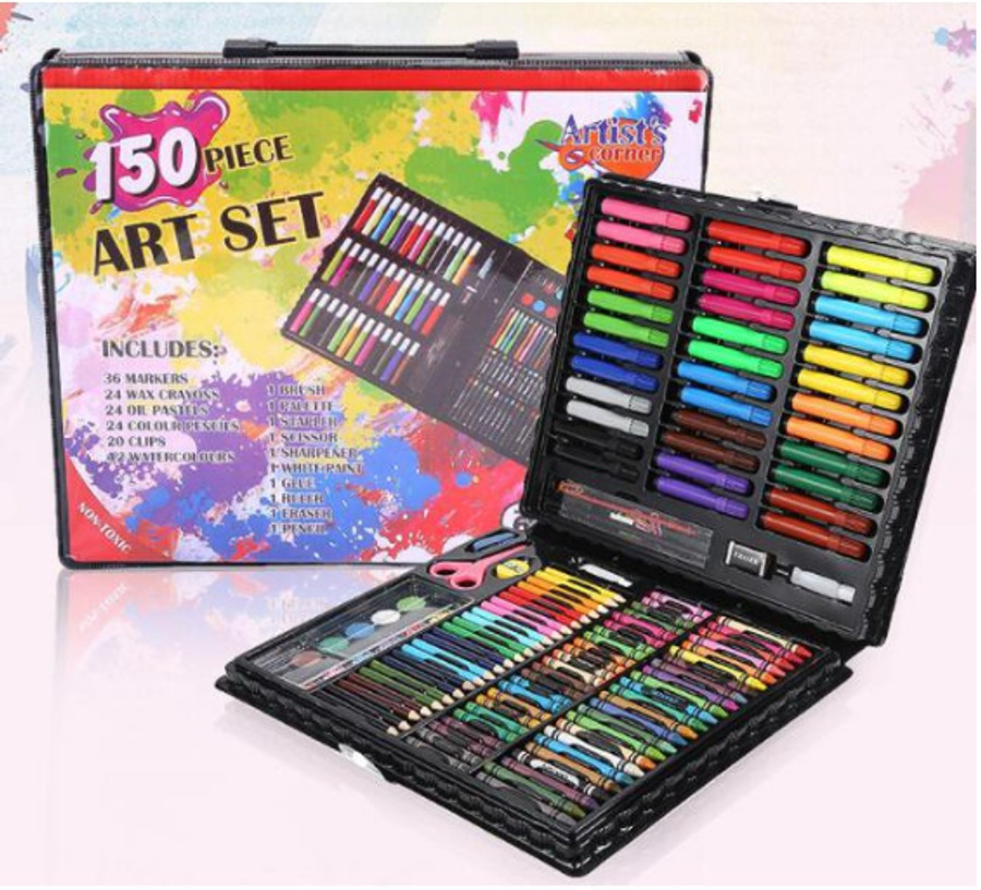 150pcs Set Coloring Painting Water Color Pen Crayon Drawing Art For Children 1 Set Of Drawing Tools