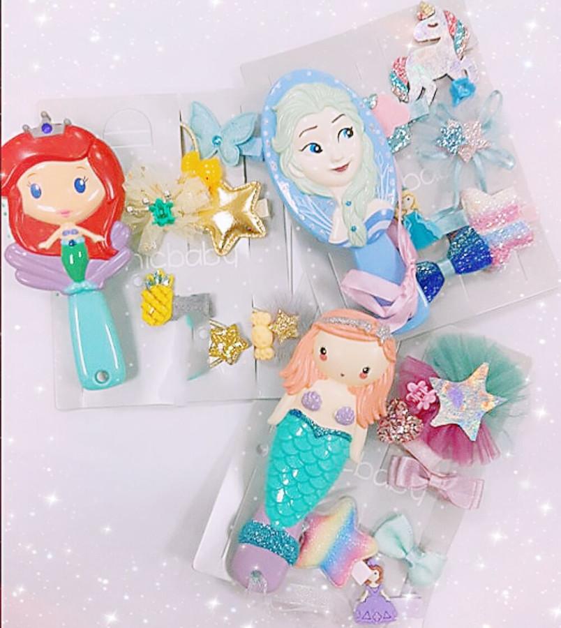 Kids Comb Hair Accessories Set Baby Hair Dress Accessories Kid Pony Set Girl Hair Accessories Child