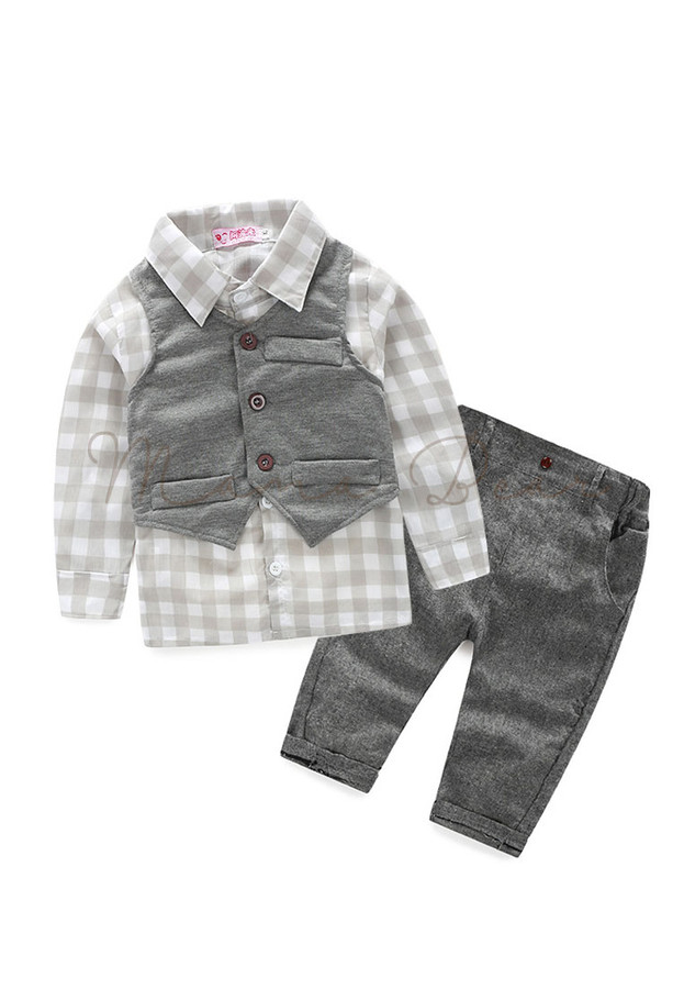 Checkered Top With Pants Kids Set