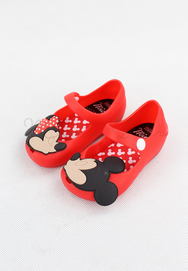 Sweet Minnie Mickey Kid Scented Jelly Shoes