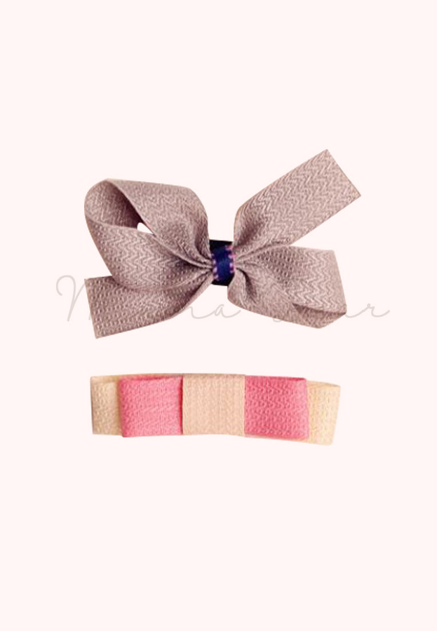 Simple Ribbon Kids Hair Clip Set