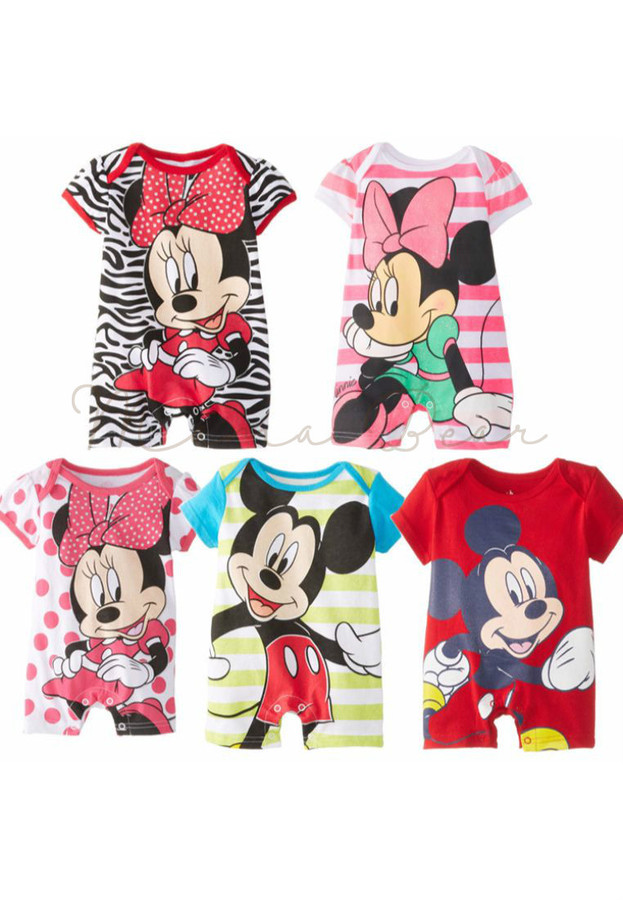 Mickey & Minnie Mouse Kids Romper