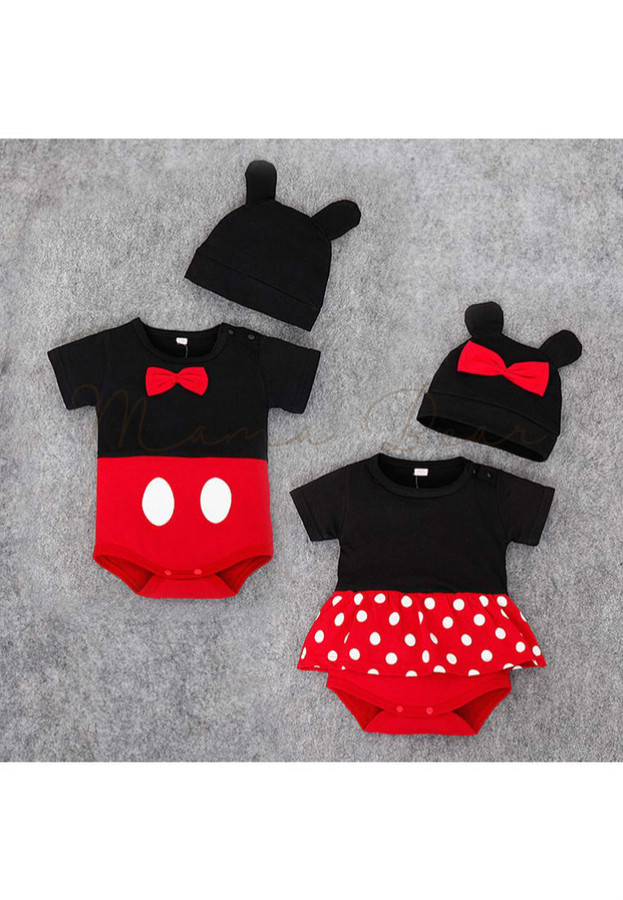 MamaBear · Home · BABY BOY · Mickey or Minnie Mouse Kids Bodysuit With Hat 667197c45ed3