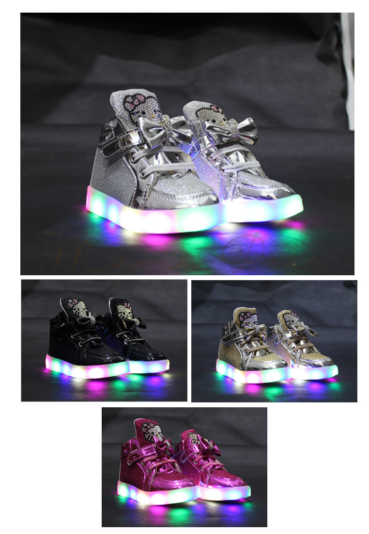 965bfc255 Write a Review. Hello Kitty Studs Baby/Kids Lighting Shoes