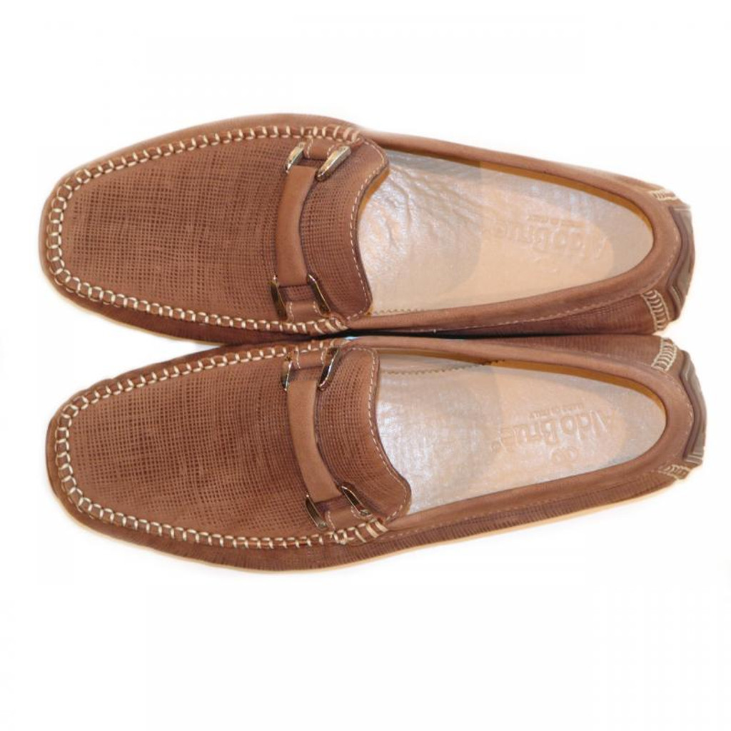 Aldo Brue Andrea Perforated Nubuck Driver Tan