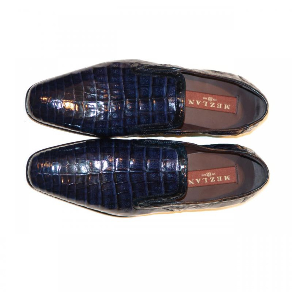 Mezlan, Grande, Alligator Loafer Navy