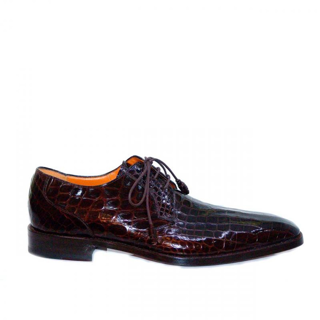 Mezlan Alligator Lace Up 3173A Brown- FINAL SALE