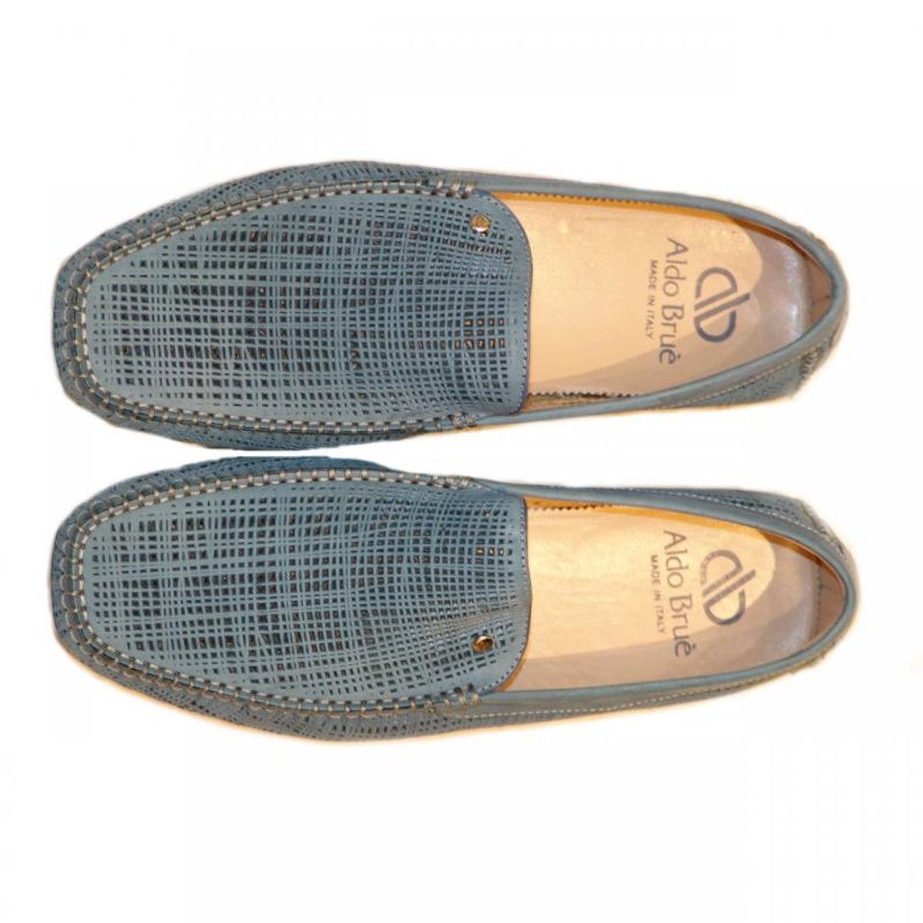 Aldo Brue Enzo Perforated Nubak Sky Blue