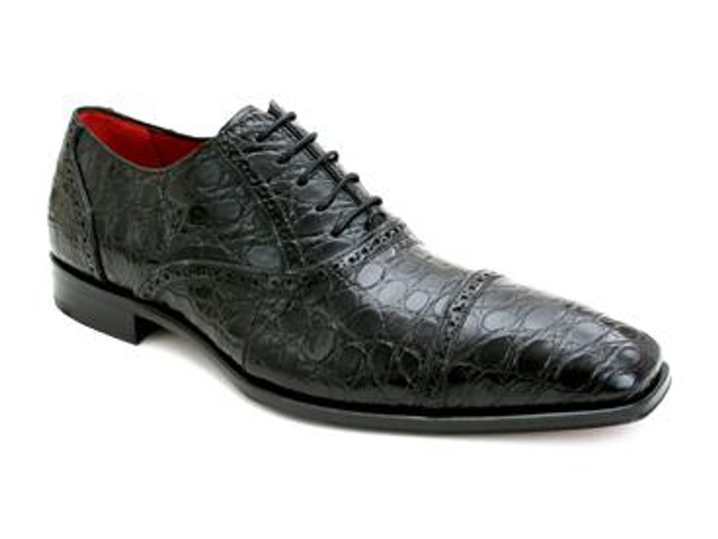 Mezlan Niagara Black Crocodile