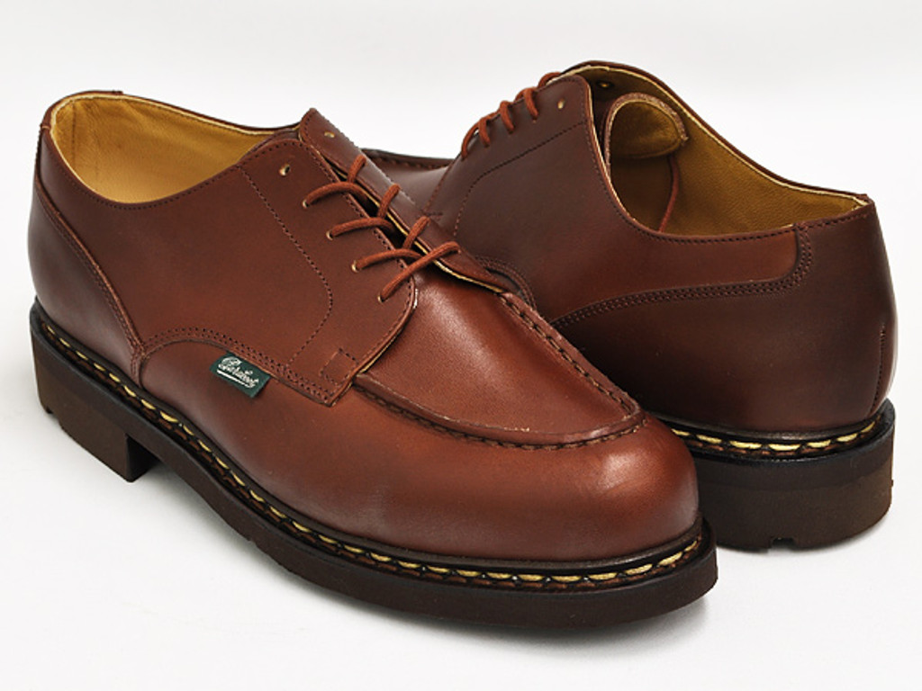 Paraboot Chambord Leather Lace Up Marron