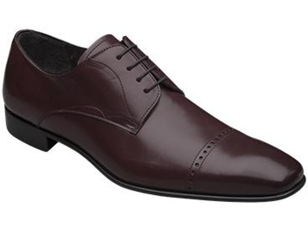 Mezlan Milton Cap Toe Design Lace Up Burgundy- FINAL SALE
