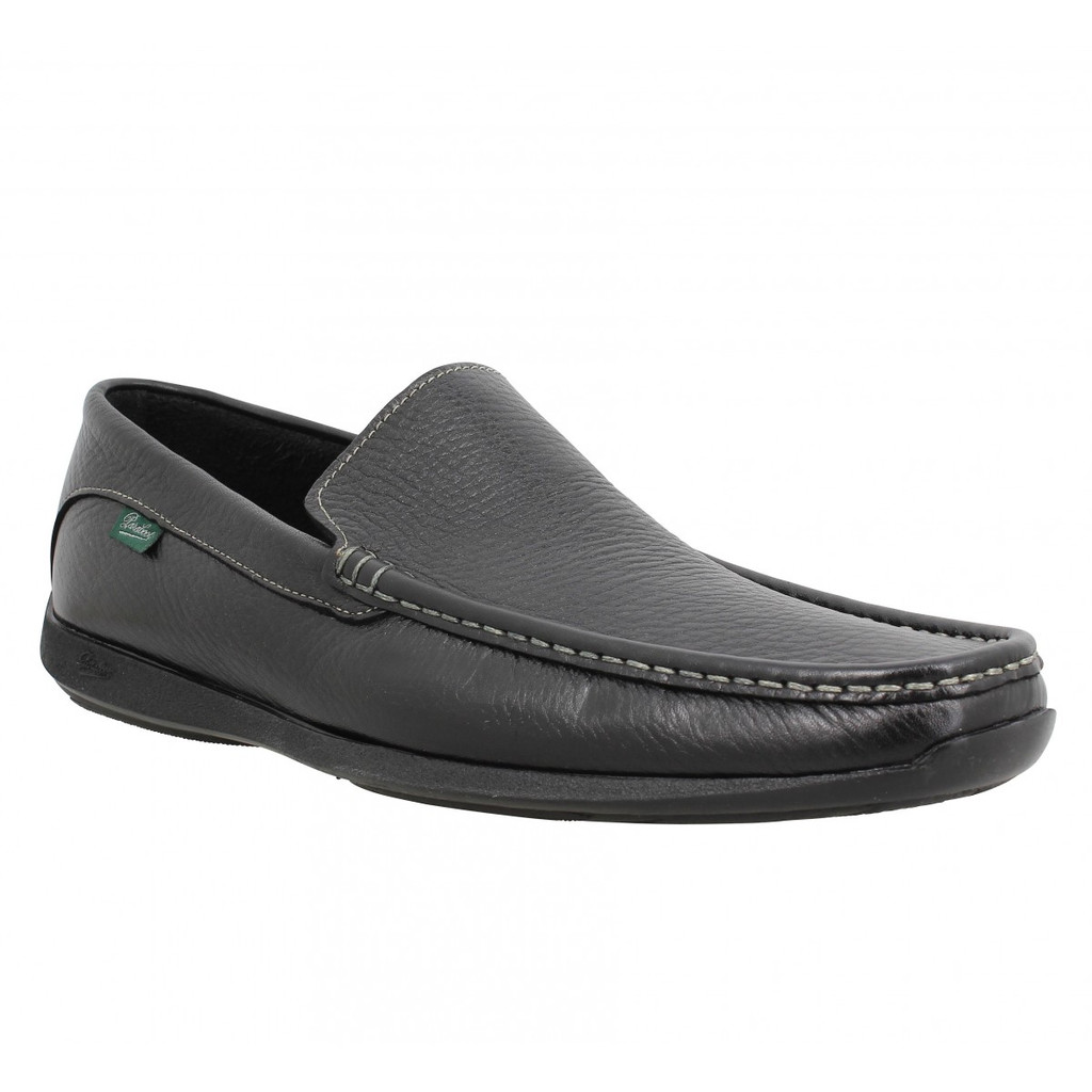 Paraboot Anvers Soft Leather Moccasin Black