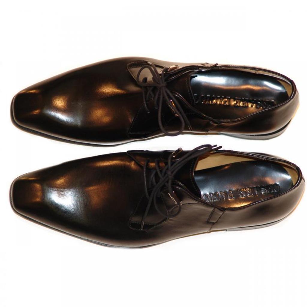 Cesare Paciotti 47401 Black Plain Toe Lace Up