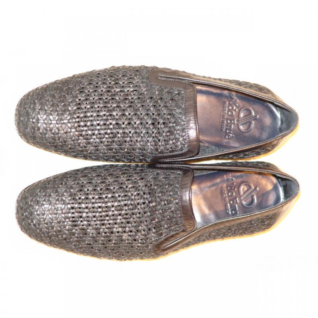 Aldo Brue 1369 Full Woven Leather Loafer Black