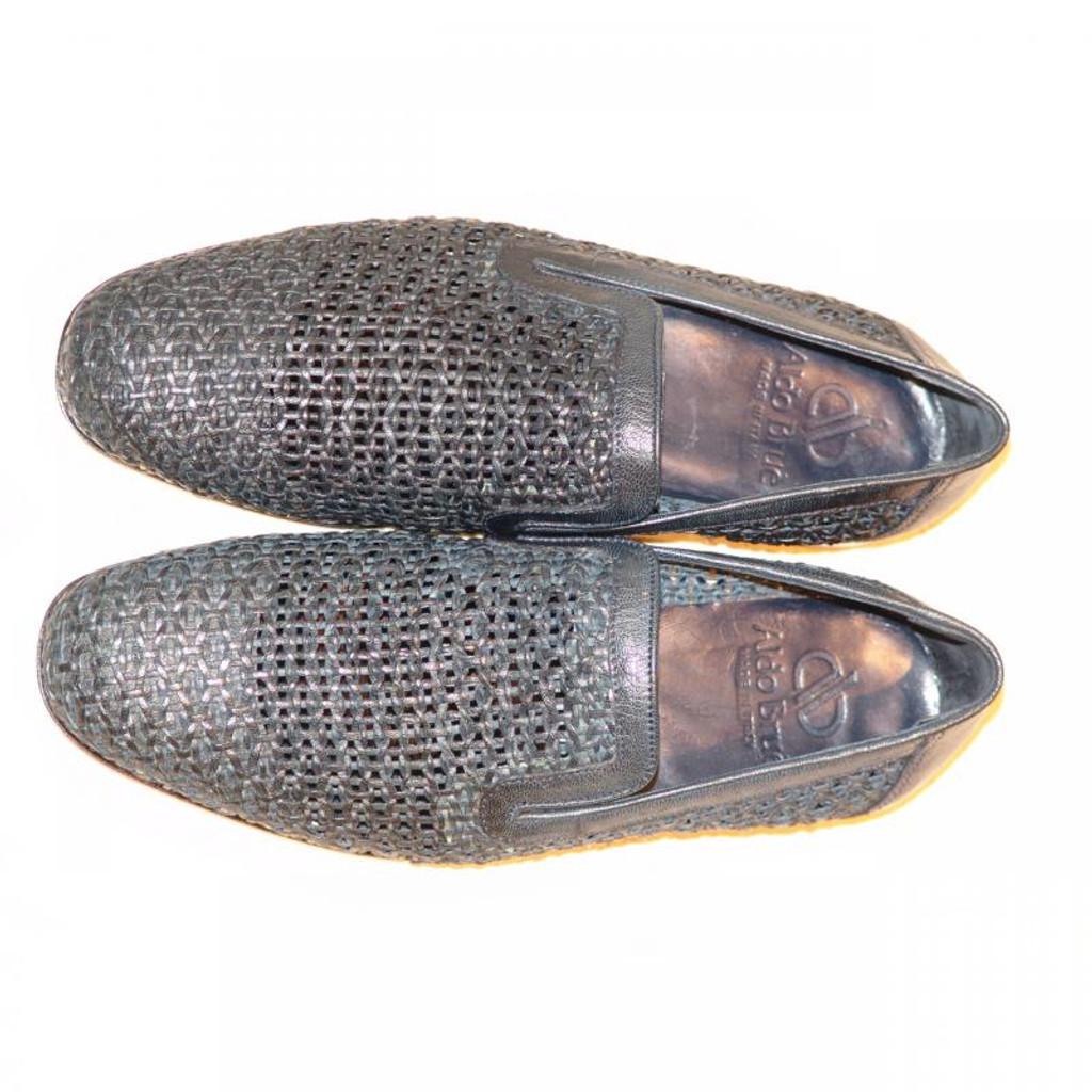 Aldo Brue 1369 Full Woven Leather Loafer Navy