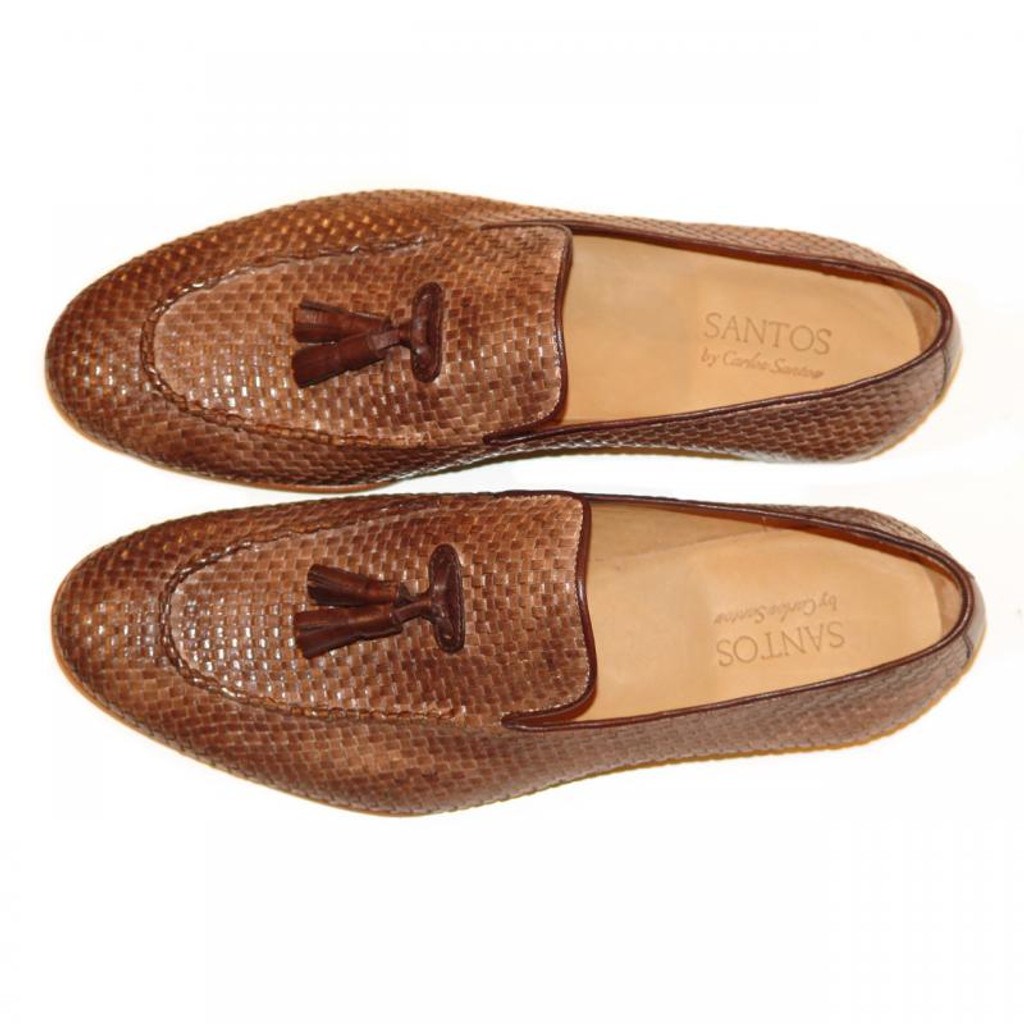 Pelle Line Exclusive Rimini Hand Woven Tassel Loafer Taupe