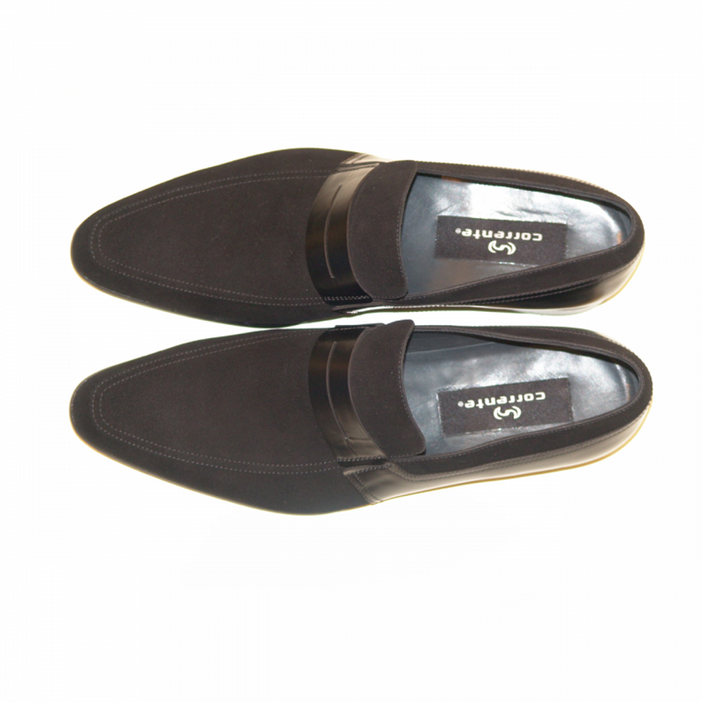 Corrente 4127 Suede and leather Loafer- Black