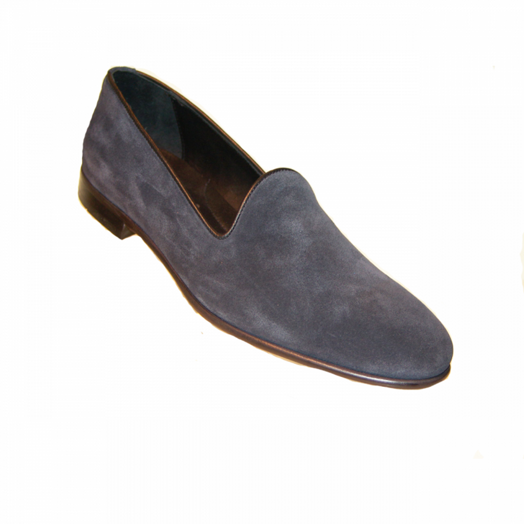 Pelle Line Exclusive 80200 Plain Loafer Navy Suede