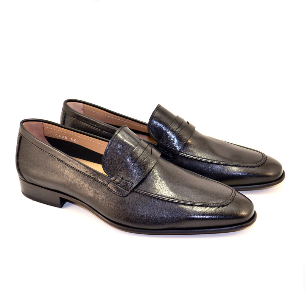 Corrente 4428-1 Penny Loafer- Black