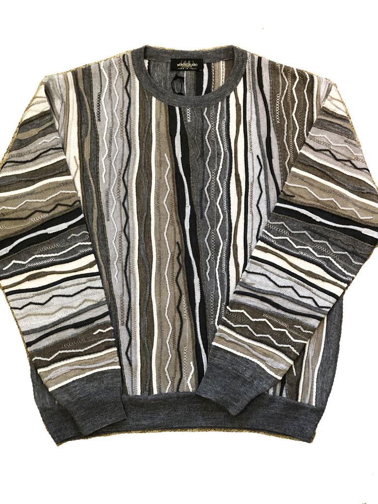 Pelle Line 940 Sweater , Crew Neck - Multi Grey - FINAL SALE