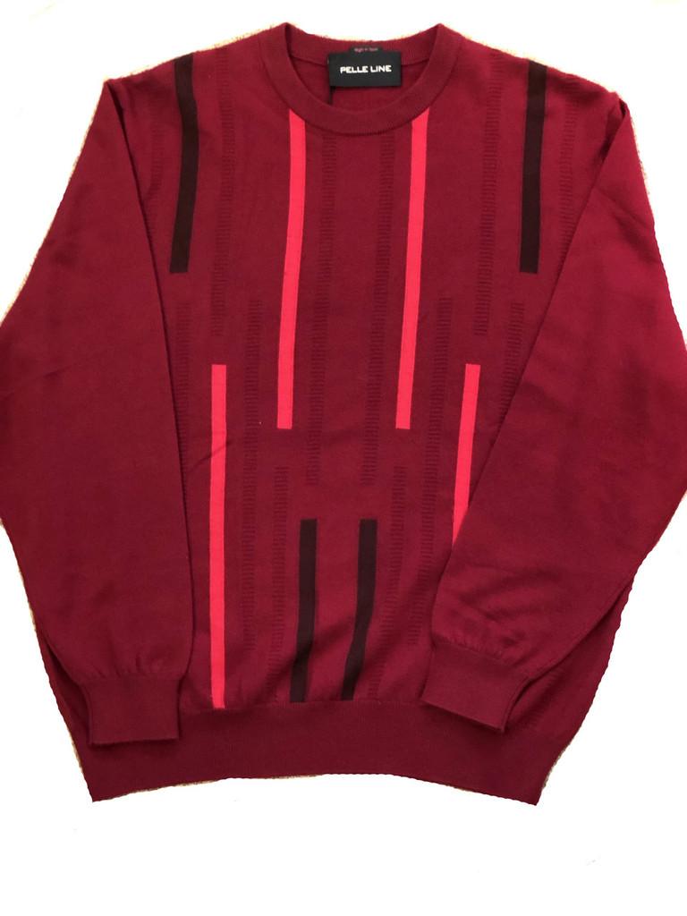 Pelle Line 25722 Sweater Crew Neck  -Burgundy- FINAL SALE