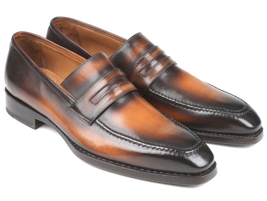 60c51935cd0 Paul Parkman Brown Burnished Goodyear Welted Loafers (ID 36LFBRW)