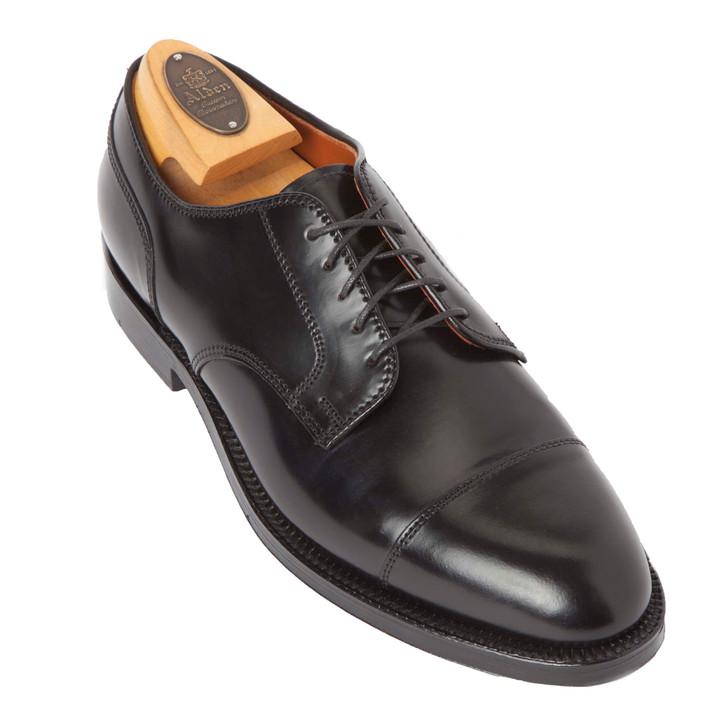 Alden Shell Cordovan Straight Tip Blucher 2161 Black